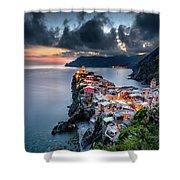 Vernazza Cityscape Shower Curtain