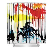 Vertical Sunset Shower Curtain
