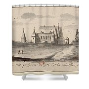 Veueof The Pigs Of The Coste Of The New France Shower Curtain