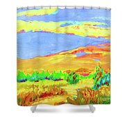 Vibrant Landscape  Shower Curtain