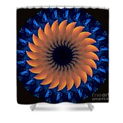 Vibrant Sun Shower Curtain