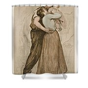 Victor Emile Prouve  French  1858   1943 The Kiss  Le Baiser  1898  Collotype On Wove Paper Shower Curtain