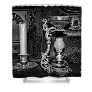Victorian Medical Device Vapo Cresolene Vaporizer Bw Shower Curtain