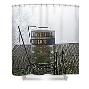 Vietnam Style Water Tower Shower Curtain