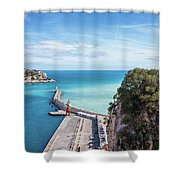 View From Castle Hill To The Sea In Nice Shower Curtain