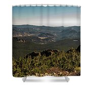 View From Flattop Mountain Trail Shower Curtain