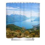View From Rifugio Menaggio Lake Como Italy Shower Curtain