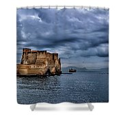 View Of Castel Dell Ovo  Shower Curtain