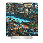 View Of Molteno Reservoir - Cape Town Shower Curtain