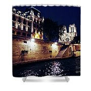 View Of Notre Dame From The Sienne River In Paris, France Shower Curtain