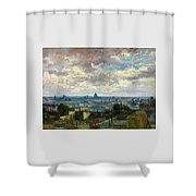 View Of Paris - Digital Remastered Edition Shower Curtain