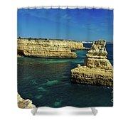 View Of Praia Deserta In Algarve Shower Curtain
