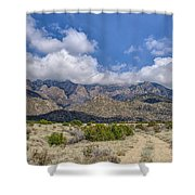 View Of Sandia Mountain Shower Curtain