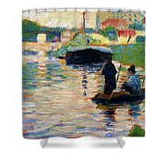 View Of The Seine - Digital Remastered Edition Shower Curtain