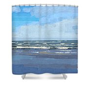View Of The Texas Gulf Shower Curtain