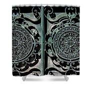 Villa Gate Shower Curtain