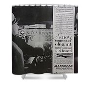 Vintage Alitalia Airline Advertisement Shower Curtain