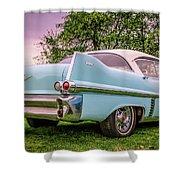 Vintage Blue Caddy American Vintage Car Shower Curtain