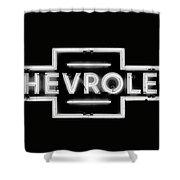 Vintage Chevrolet Neon Sign Shower Curtain