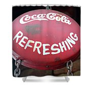 Vintage Coca Cola Sign Asia Shower Curtain