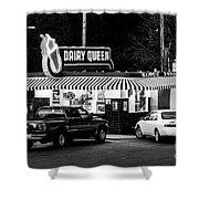 Vintage Dairy Queen At Night Shower Curtain