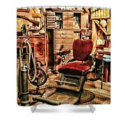 Vintage Dentist Office And Drill Shower Curtain
