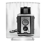 Vintage Eastman Kodak Brownie Reflex Synchro Model Film Camera Shower Curtain