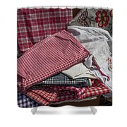 Vintage French Textiles Shower Curtain