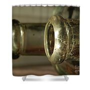 Vintage Glass Shower Curtain