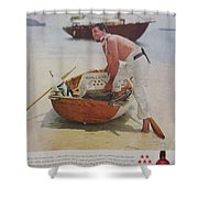 Vintage Haig And Haig Whiskey Advertisement Shower Curtain