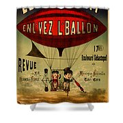 Vintage Hot Air Balloon Shower Curtain