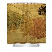 Vintage Map Of Bengal Shower Curtain