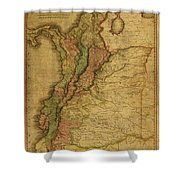 Vintage Map Of Columbia 1818 Shower Curtain