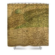 Vintage Map Of North Africa Including Morocco Algeria And Tunisia 1901 Shower Curtain