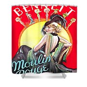 Vintage Poster - Burlesque Movie Shower Curtain