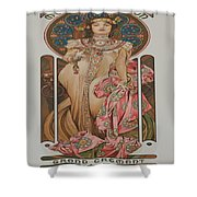 Vintage Poster - Champagne Shower Curtain