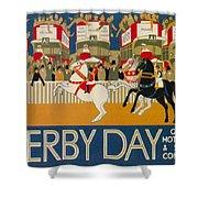 Vintage Poster - Derby Day Shower Curtain
