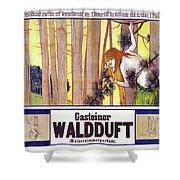 Vintage Poster - Gasteiner Waldduft Shower Curtain