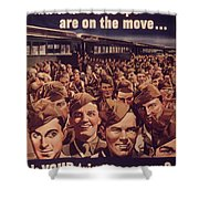 Vintage Poster - Is Your Trip Necessary? Shower Curtain