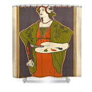 Vintage Poster - Louis Rhead Shower Curtain