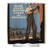Vintage Poster - Make Every Minute Count Shower Curtain