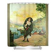 Vintage Poster - Malta Shower Curtain