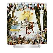 Vintage Poster - Mobile Mardi Gras Shower Curtain