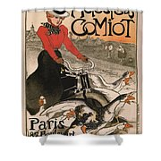 Vintage Poster - Motocycles Comiot Shower Curtain
