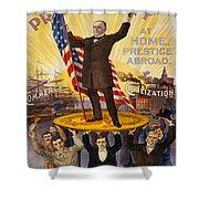 Vintage Poster - William Mckinley Shower Curtain