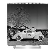 Vintage Race Car Gold King Mine Ghost Town Shower Curtain