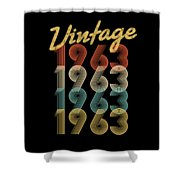 Vintage Retro Since 1963 Birthday Gift Shower Curtain