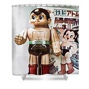 Vintage Robot Astro Boy Shower Curtain