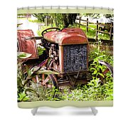 Vintage Rusted Tractor Shower Curtain
