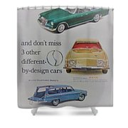 Vintage Studebaker Advertisement Shower Curtain